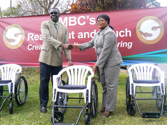 MBC-TV Reach Out and Touch receives Wheelchairs from the Malawi Project