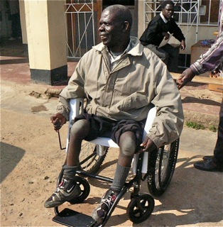 Mr Chimota gets another wheelchair